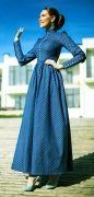 Выкройка «платья-татьянка с высоким манжетом»