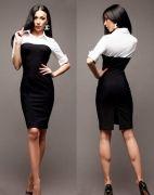 Выкройка платья футляра комби - Размеры: 40-52 и 52-62. Уровень сложности шитья: средний – выкройка для начинающих не подходит. Выкройка платья футляра выполнена в натуральную величину и без припусков на швы...