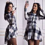 Выкройка платье-рубашка отрезное  перепад длины  40-62