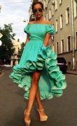 Выкройка платья отрезного барышня-крестьянка с перепадом