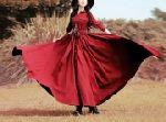 Выкройка платья рубашки в пол с длинным рукавом прямым и рукавом беспосадочным