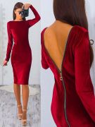 Выкройки платьев «стретч-футляры с открытой спиной»