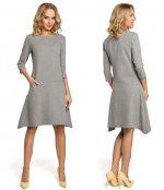 Выкройка платья-трапеции стретч с карманами - Как сшить платье стретч по простой выкройке для начинающих. Уровень сложности шитья простой. Модель подходит для шитья начинающими. Этот фасон платья подходит большинству фигур любой полноты. Размеры: 40-52 и 52-64.