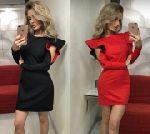 Выкройка платья-футляра с фантазийным рукавом - Уровень сложности шитья: средний, потребуются швейные навыки, пригодится опыт в шитье платья-футляра. Размеры: 40-52 и 52-64.