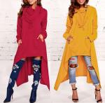 Выкройка платья-мантии трапеции с двумя видами рукава и капюшонов худи