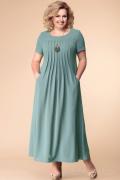 Выкройка платья трапеции на кокетке со складками и с рукавом