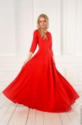Выкройка длинного платья в пол клёш с рельефами