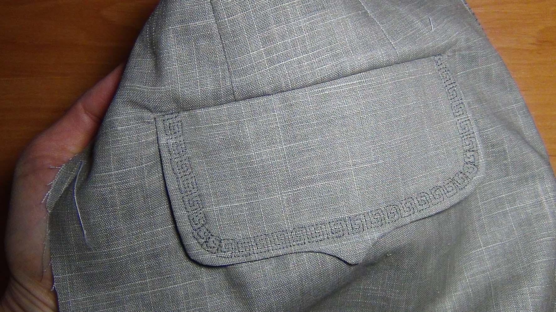 На юбке карманы клапаны