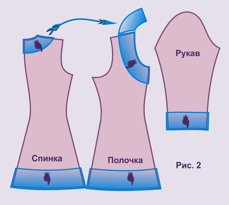 Как шить платья схема