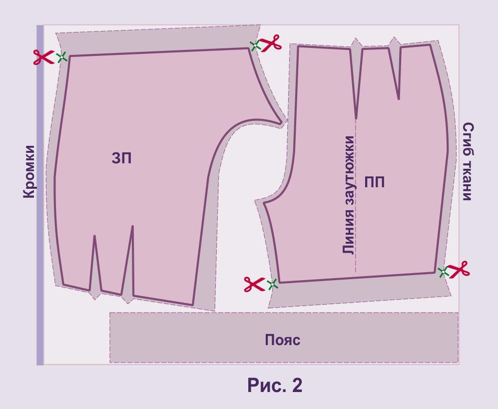 Выкройка и пошив женских шорт - Как научиться шить и кроить 54