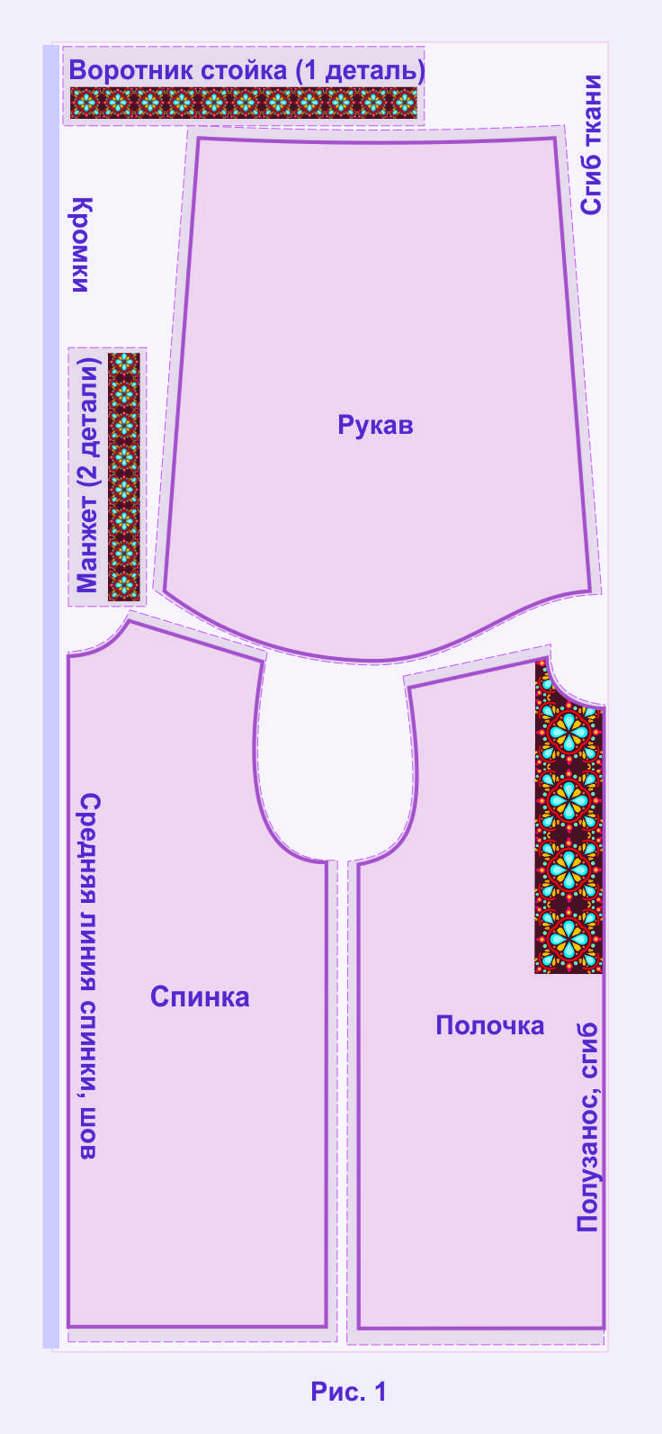 Фасон вышива выкройка вышиванки 42-52 484beef39736f