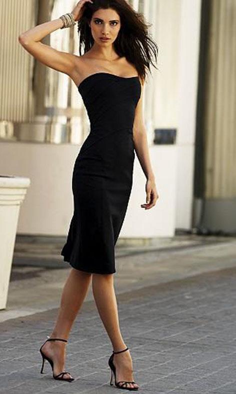 Выкройка платья с бретелью