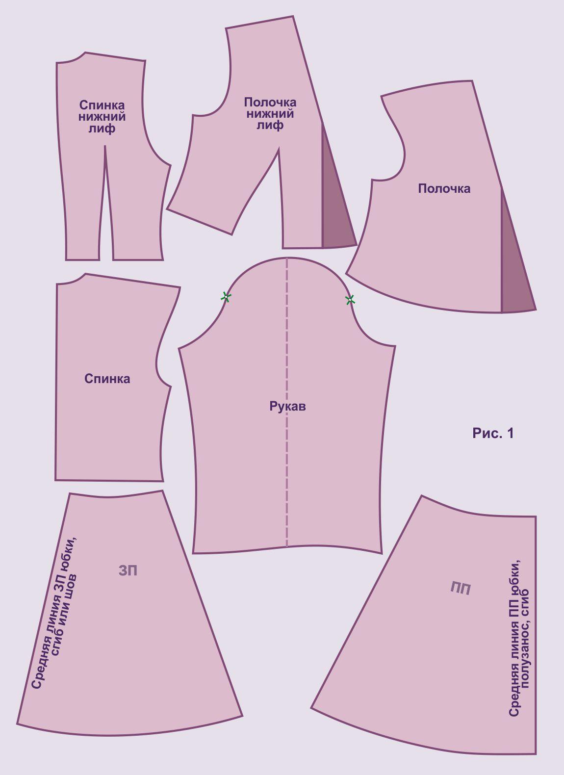 Выкройка платья для девочки 42 размер