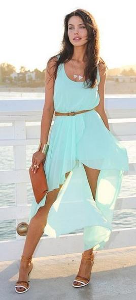 Выкройки для платья с юбкой разной длины