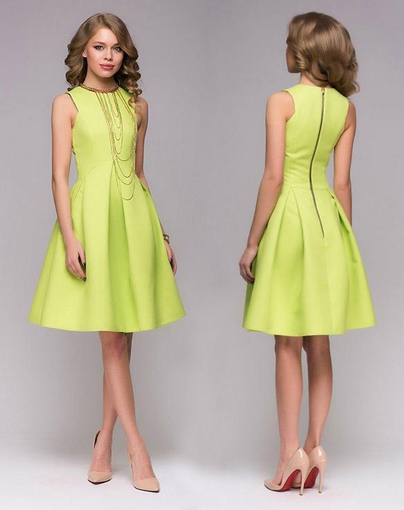 Платье выкройка зеленое