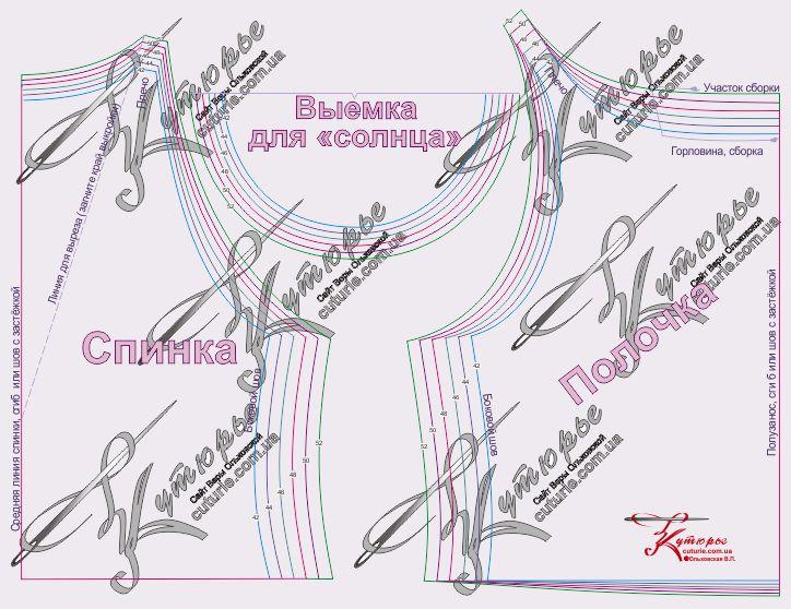 Выкройки платьев без плечевых швов