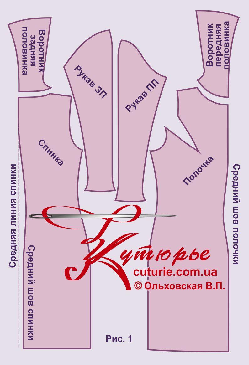 Выкройка платья из трикотажа футляр