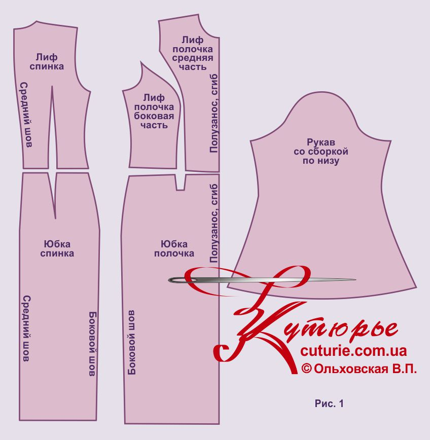 Выкройка платья футляра 54 размера