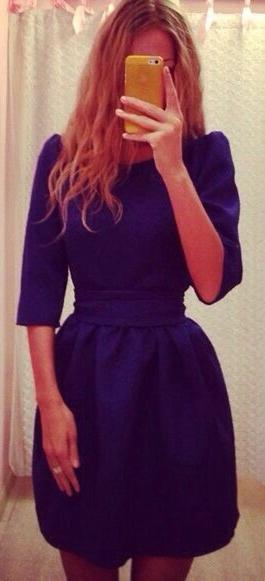 Выкройка платья с рукавом колокол