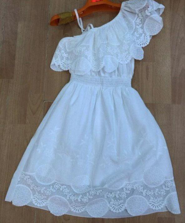 Выкройка платья на одно плечо с баской