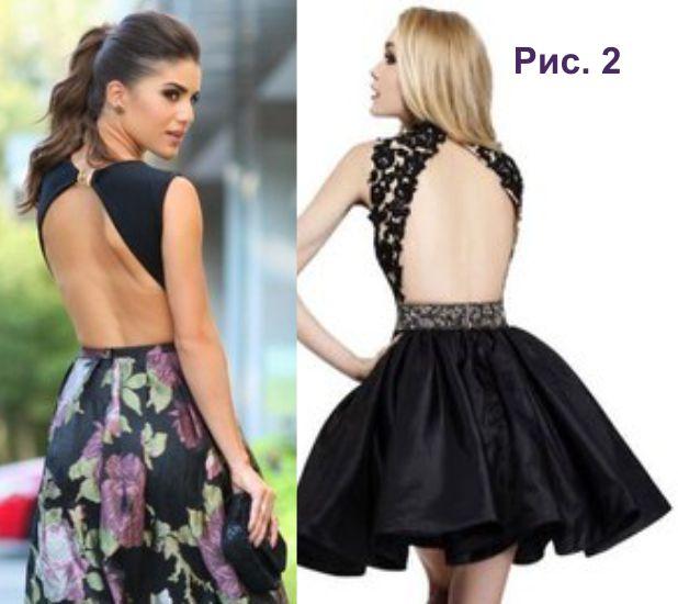 Схема платья с открытой спиной фото 436