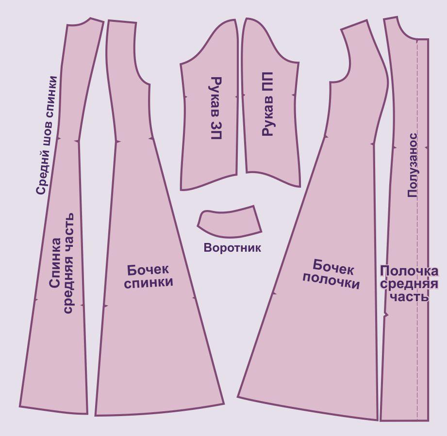 Шубка из меха выкройка в натуральную величину