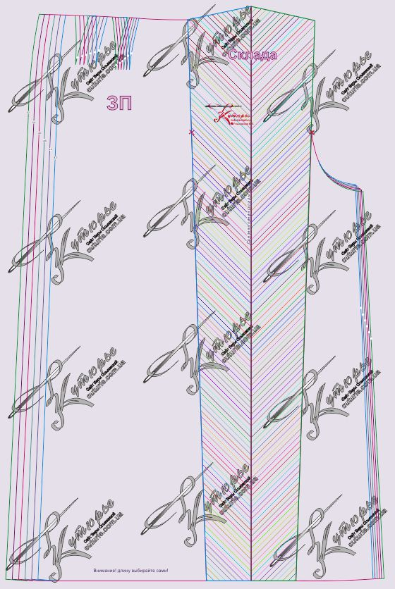 выкройка юбки для вязания спицами