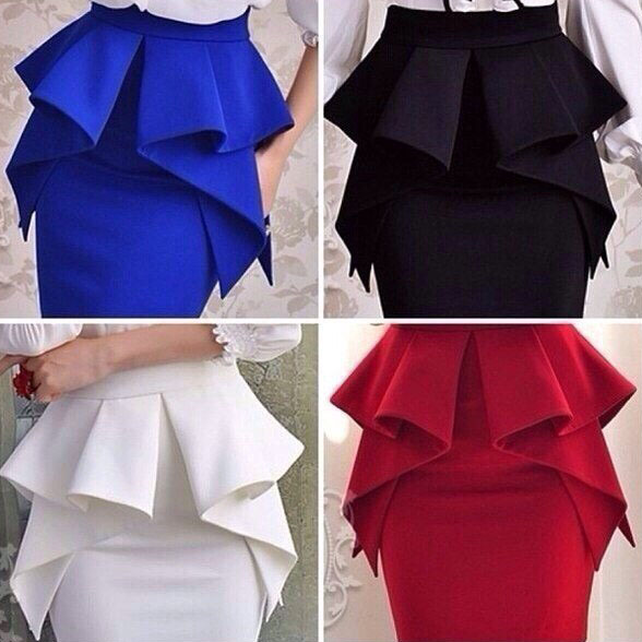 Как шить баску на юбку